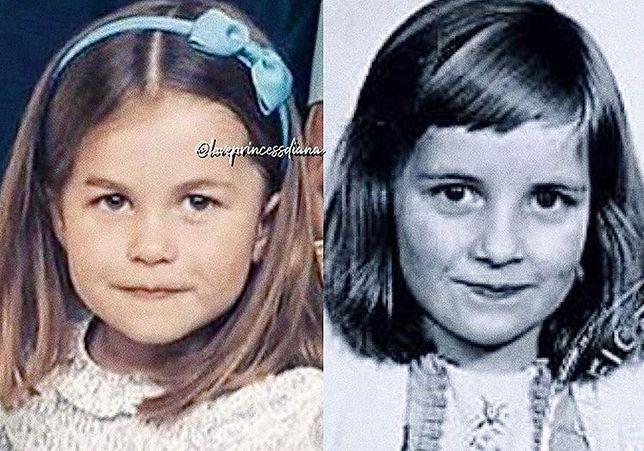 Księżniczka Charlotte wygląda identyczne jak księżna Diana. Spójrzcie tylko na te zdjęcia