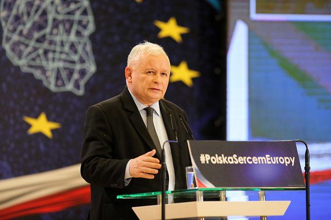 Jarosław Kaczyński podczas śląskiej konwencji PiS