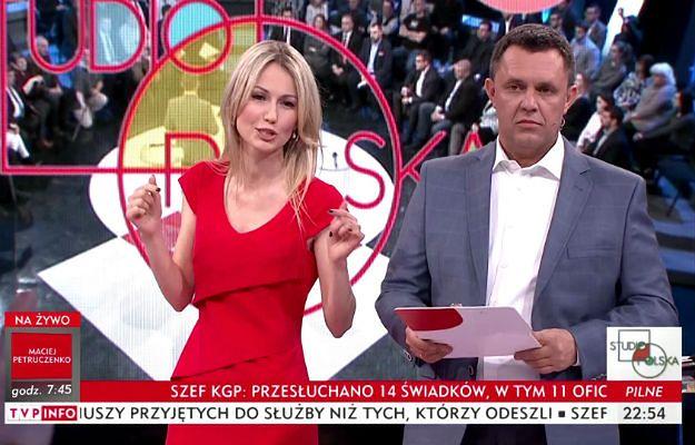 "Magdalena Ogórek i Jacek Łęski w programie ""Studio Polska"""