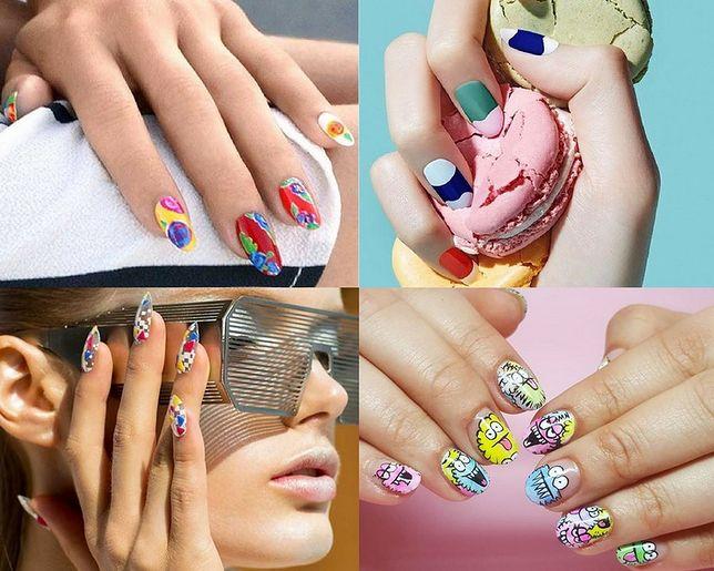 W sezonie letnim modne będą kolorowe wzorki na paznokciach