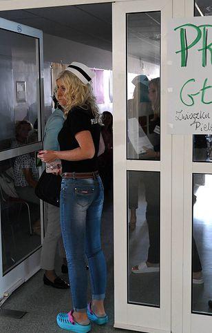 Protest w Przemyślu. 200 pielęgniarek na zwolnieniu lekarskim