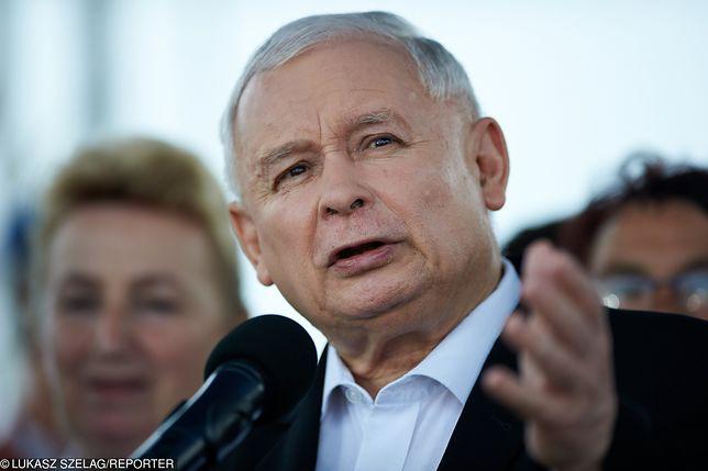 Jarosław Kaczyński zabrał głos na pikniku PiS w Dygowie