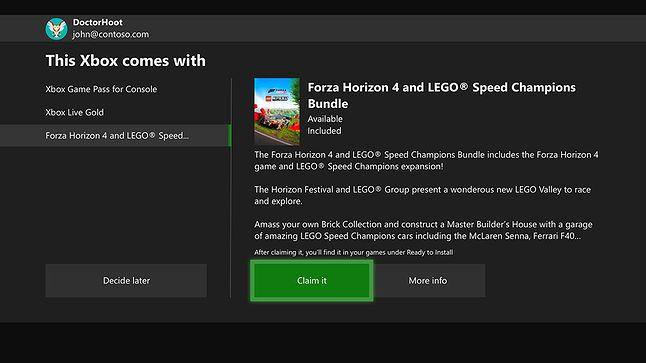 Tak wygląda proces dodawania gry przy ustawianiu konsoli, fot. Microsoft