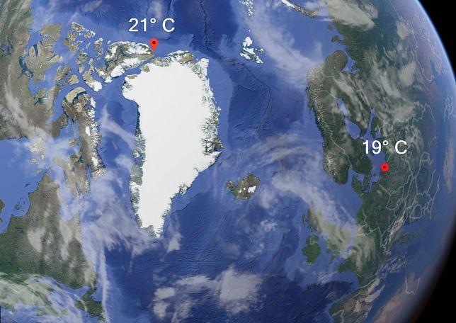 Pogoda. Fala upałów w... Arktyce. 21 stopni w Alert