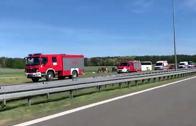 Wypadek miał miejsce na pasie z Gorzowa w stronę Zielonej Góry