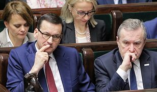 Premier Mateusz Morawiecki i wicepremier, minister kultury i dziedzictwa narodowego Piotr Gliński
