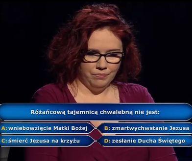 Katarzyna Kant-Wysocka usłyszała finałowe pytanie o tajemnice różańca