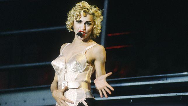 Madonna na koncercie w 1990 r.