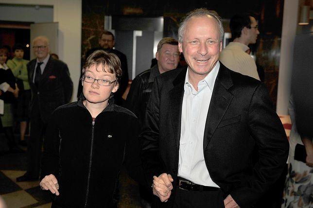Paweł Wawrzecki z córką