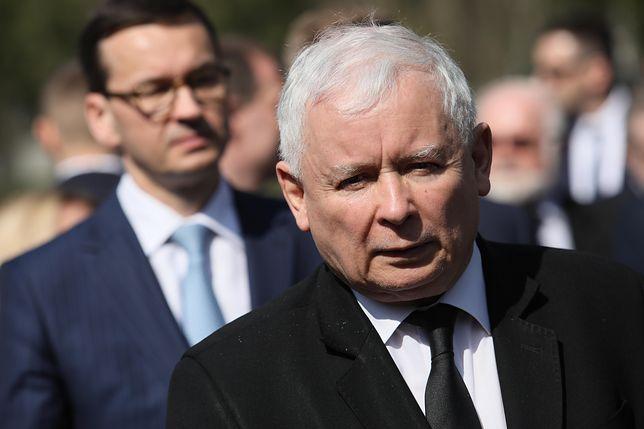 Najpotężniejsi w PiS - prezes Jarosław Kaczyński i premier Mateusz Morawiecki.