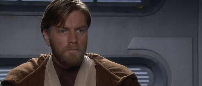 """Ewan McGregor jako Obi-Wan Kenobi w filmie """"Gwiezdne wojny: Zemsta Sithów"""""""