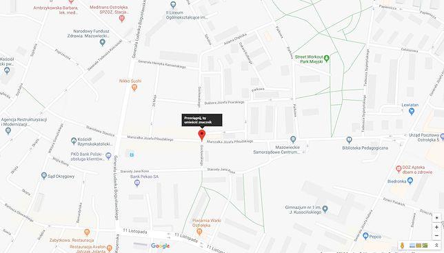 Do wypadku doszło na skrzyżowaniu ulic Piłsudskiego i Gocłowskiego