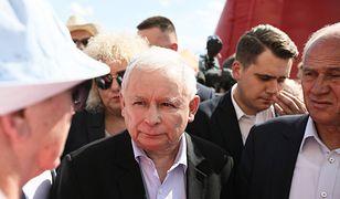 Jarosław Kaczyński podczas pikniku PiS w Zbuczynie (woj. mazowieckie)