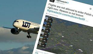 Zamknięcie przestrzeni powietrznej nad Polską wywołało falę spekulacji