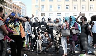 Konfrontacja między policją a imigrantami z Erytrei w Rzymie
