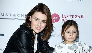 Natasza Urbańska z córką Kaliną