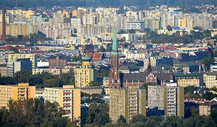 Warszawa - Targówek i Praga-Północ widziane z lotu ptaka