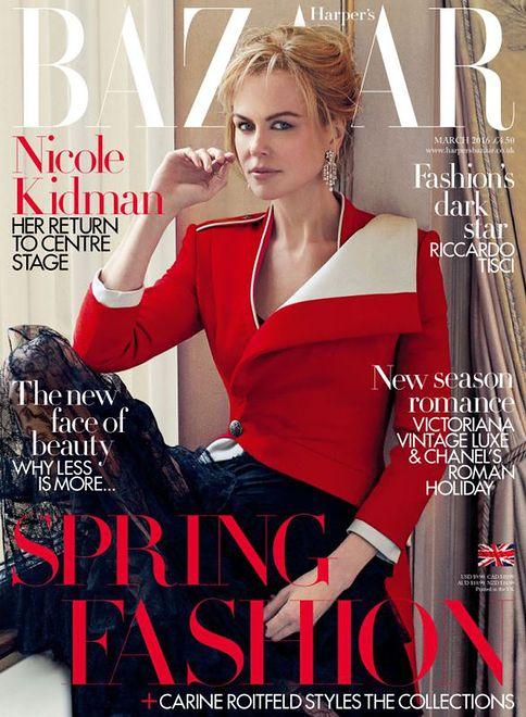 """Nicole Kidman na okładce """"Harper's Bazaar UK"""""""