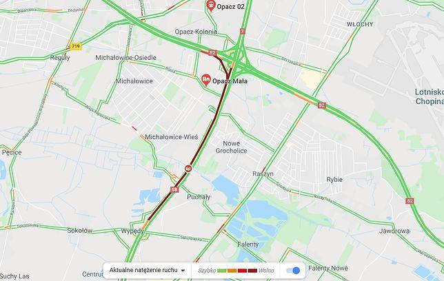 Warszawa. Zderzenie na S8. Kierowca jechał pod prąd