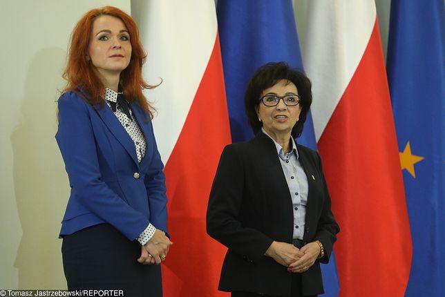 Marszałek Sejmu Elżbieta Witek i szefowa Kancelarii Sejmu Agnieszka Kaczmarska.