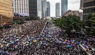 Masowy protest w Hongkongu.