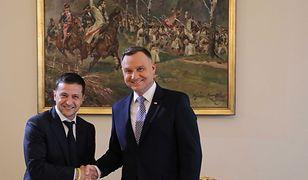 Andrzej Duda i Wołodymyr Zełenski mieli zapałać do siebie sympatią podczas spotkania u amerykańskiego ambasadora