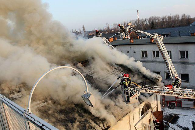 Kłęby dymu nad Częstochową - zdjęcia