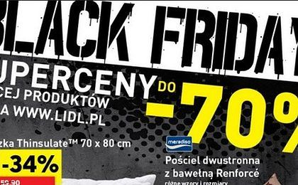 """""""Czarny piątek"""" w Lidlu. Sieć obniża ceny produktów do 70 procent"""