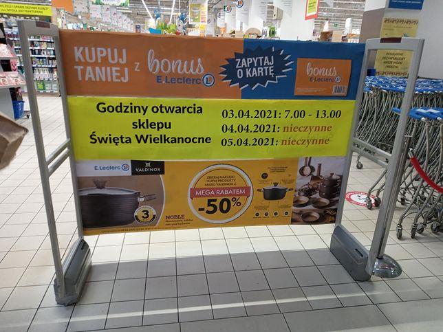 W święta wielkanocne sklepy będą otwarte w innych niż zwykle godzinach