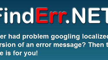 Błędy .NET w języku angielskim