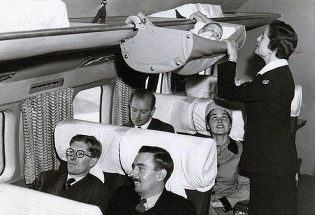 Dziecko na pokładzie! Zobacz, jak niemowlaki latały 60 lat temu