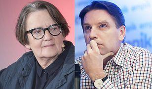 Agnieszka Holland i Tomasz Lis