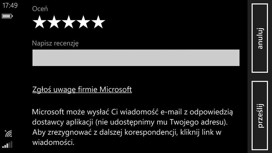 W sklepie Windows Phone będziesz mógł teraz pokłócić się z twórcami aplikacji