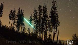 Bolid zarejestrowany przez Polish Fireball Network nad Polską