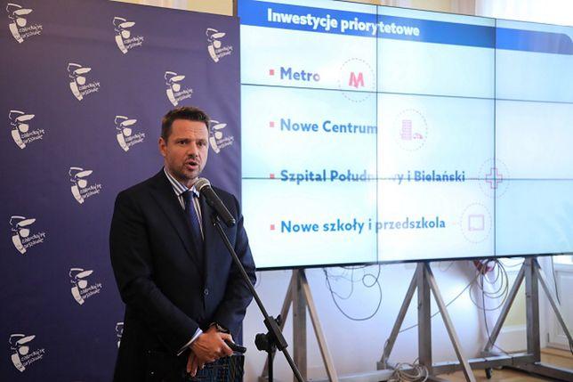 Warszawa. Rafał Trzaskowski poinformował o przesunięciu niektórych inwestycji