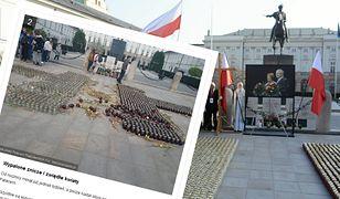 Przed Pałacem Prezydenckim śmietnik. Taki widok tydzień po rocznicy smoleńskiej
