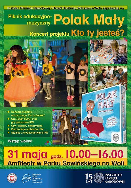 """IPN zaprasza na piknik edukacyjno-muzyczny """"Polak mały"""""""