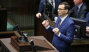 Mateusz Morawiecki w Sejmie. O Emeryturze Plus, kwitnących kasztanach i gruszkach na wierzbie