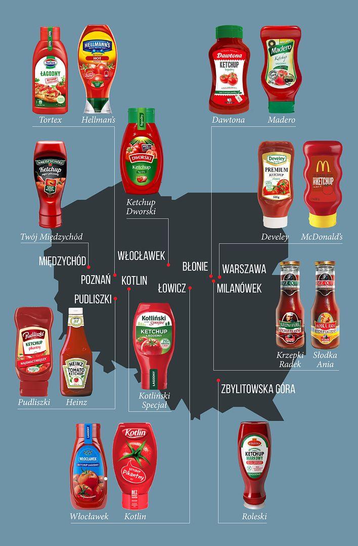 Ketchupowa mapa Polski. Wielkopolska stolicą pomidorowego sosu