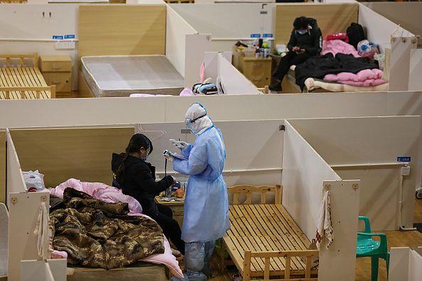 Szpital w Wuhan.