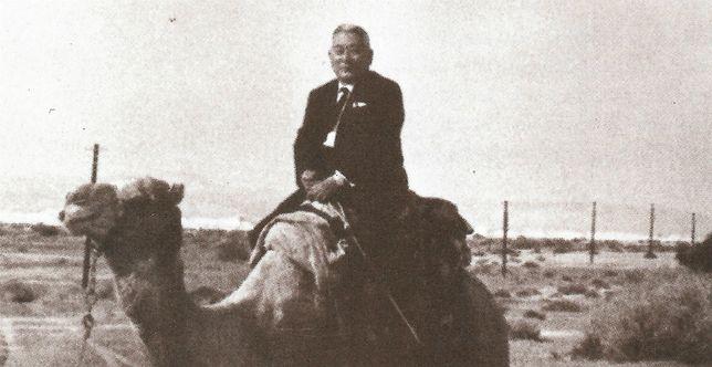 Sugihara Chiune na Wzgórzach Golan w Izraelu, 1970 r.