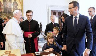 Mateusz Morawiecki miał powody do zadowolenia z audiencji u papieża Franciszka