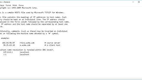 Plik gospodarze... czyli mniej reklam, telemetrii i spamu