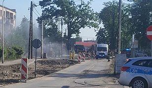 Wyciek gazu na Białołęce
