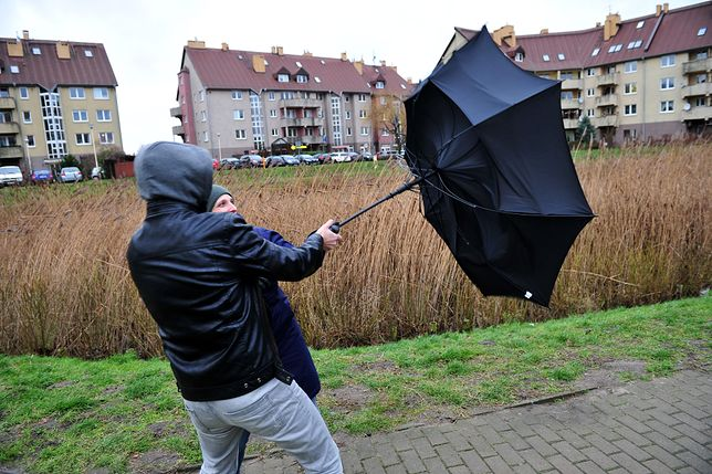 Porywy wiatru osiągną prędkość do 100 km/h