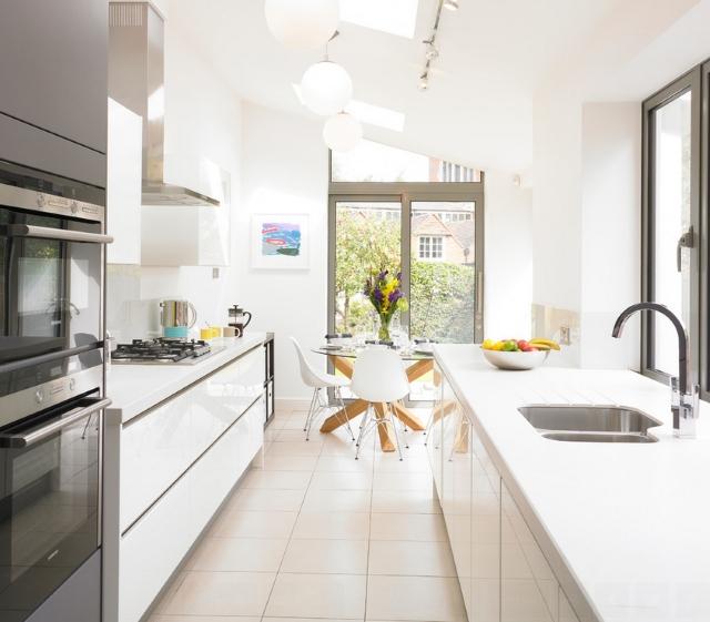 Wąska kuchnia krok po kroku  Wąska kuchnia aranżacje, inspiracje, zdjęcia  -> Urządzanie Kuchni Krok Po Kroku