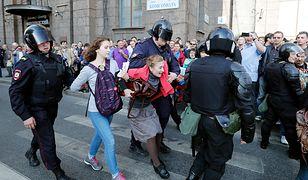Aresztowania podczas demonstracji w St. Petersburgu