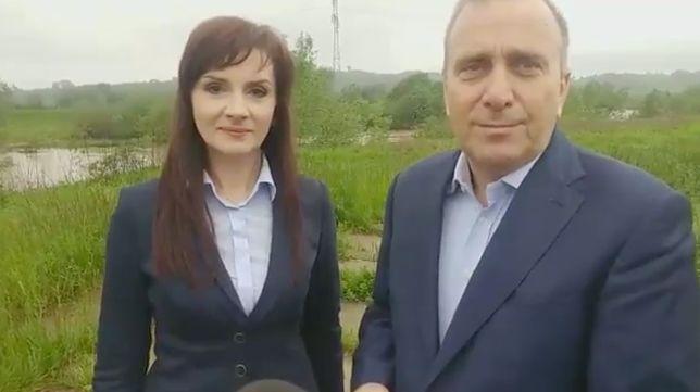 Grzegorz Schetyna zachęcał do głosowania na poseł Joannę Frydrych