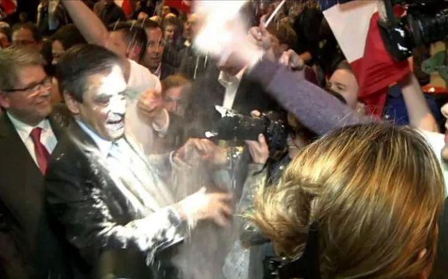 Kandydat na prezydenta Francji zaatakowany na wiecu