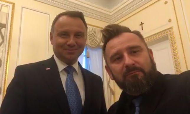 Piotr Liroy-Marzec spotkał się z Andrzejem Dudą w Pałacu Prezydenckim